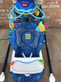 Fisher Price Aquamarine swinging crib