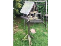 Free standing Wooden Garden Bird Table - Good condition