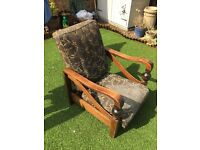 2 Vintage Reclining Armchairs