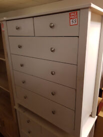 osaka 5+2 drawer chest white 3