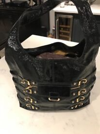 Black Patent Jimmy Choo handbag