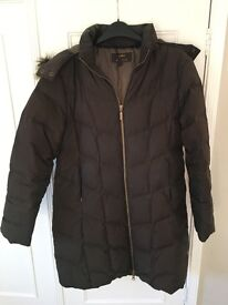 M&S Padded Hooded Coat - Size 12