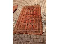 Rusty Red Bokhara rug
