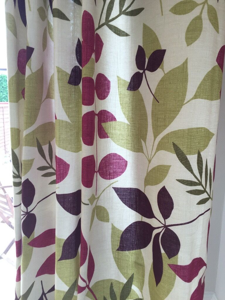 Dunelm Bathroom Accessories Dunelm Plum Jakarta Curtains In Rugby Warwickshire Gumtree