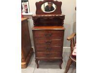 Pretty Wooden Antique Cabinet