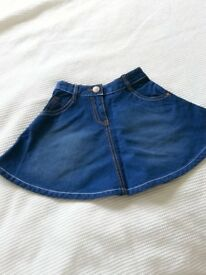 Next Brand New Girls denim skirt