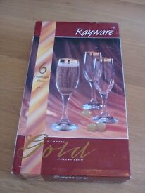 CHAMPAGNE FLUTES – BOXED SET OF SIX