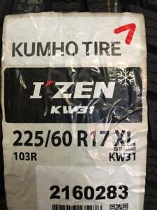 4 Brand New Kumho I Zen KW31 225/60R17 Winter Tires *** WallToWallTires.com ***