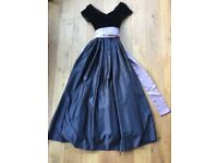 Long Black Ball Gown|Velvet and Satin size XS by Jim HJELM Occassions
