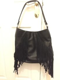 Black Faux Leather Handbag *LIKE NEW*