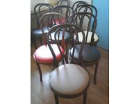 12 bistro style dining room chairs.