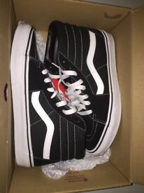 Vans uk size 6 black/white in original box