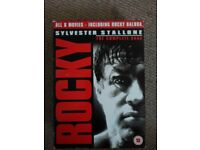 Rocky dvd the complete Saga and Indiana Jones the complete dvd movie collection