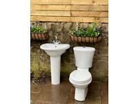 Modern Toilet, Sink & Tap - Excellent Condition