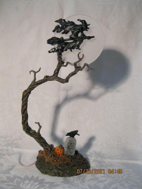"""Dept 56 Halloween Village """"Witch By The Light Of The Moon"""" 52879 Cemetery Tree"""