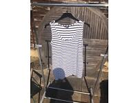 Long striped vest