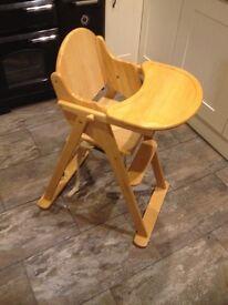 Wooden East Coast High Chair