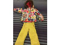 Boden girls ski jacket and matching ski trousers, fantastic condition age 3-4