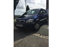 Vauxhall zafira 7 seater with 12 months MOT