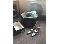 Jacques vert hat and matching shoes size 41