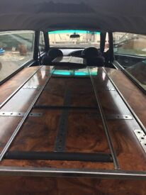 Hearse with double deck and matching limo