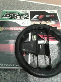 3 DRIVING WII GAMES & WHEEL