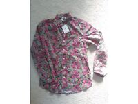 NEW Mens floral shirt size small by Kennington