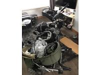 2x push chairs and baby seat used