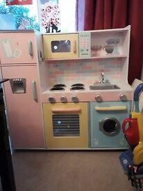 Woodem play kitchen