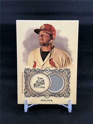 2019 TOPPS ALLEN & GINTER YADIER MOLINA GAME USED JERSEY FSRB-YM CARDINALS