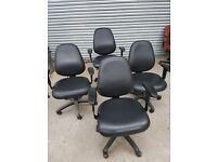 4 x black office chairs for sale