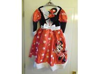 Disney Minnie Mouse Dress & Headband 7-8 Yrs