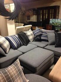 Beautiful grey fabric corner suite £950