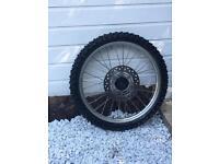 "Honda cr85 front wheel. Big wheel. 19"". Yz ktm rm kx"