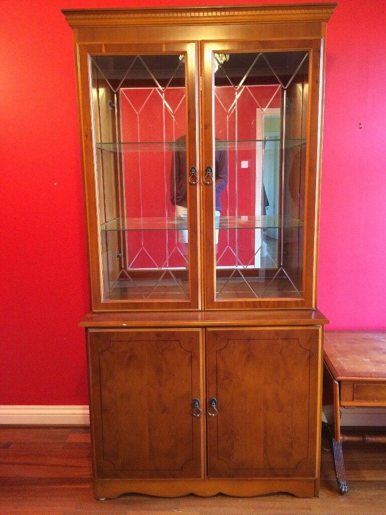 Illuminated Wood & Glass Display Cabinet RRP: £800