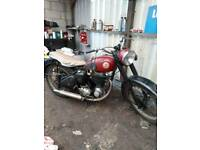 1954 bsa c11g 250cc with new v5 barn find project
