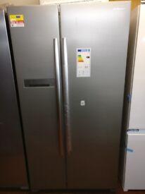 Daewoo American fridge freezer Silver New/Graded