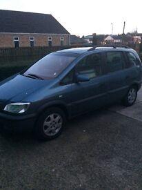 7 seater Vauxhall zafira