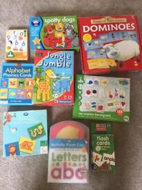 Child toddler learning games and phonics cards
