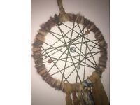 Unique hand made one of a kind dream catcher