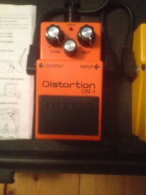 BOSS DISTORTION PEDAL DS-1 IN AS NEW CONDITION!