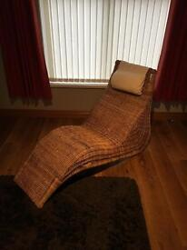 Wicker lounging chair