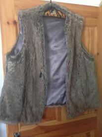 Fur gillet size 16/18