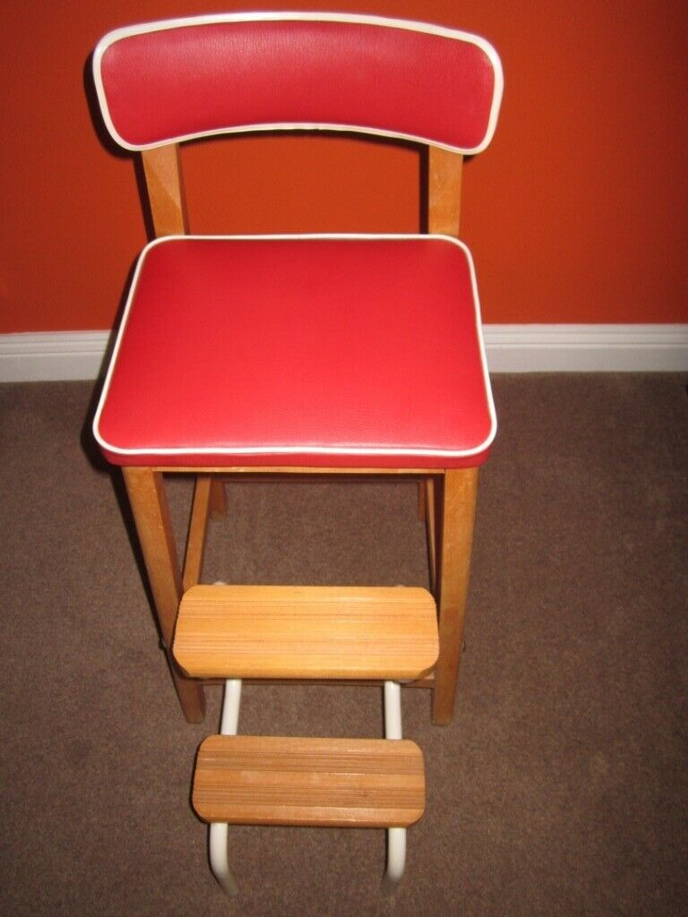 Remarkable Retro Vintage Step Stool Chair 1960 1970 Immaculate One Of Condition In Yate Bristol Gumtree Pdpeps Interior Chair Design Pdpepsorg