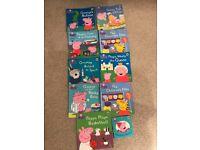10x peppa pig books