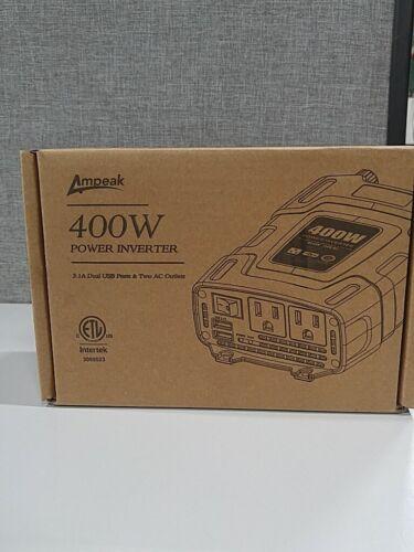 Ampeak 400W Power Inverter DC 12V to 110V AC Car Inverter with 3.1A Dual USB Con