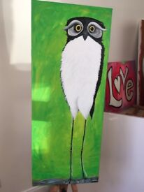 Newly painted large owl