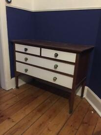 Retro vintage upcycled chest of drawers