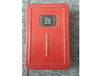 Vintage collectibles memorabilia SKF & Dormer Tools A190 No. 20 15 Drill Bit Case [C]