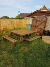 Large picnic bench/table